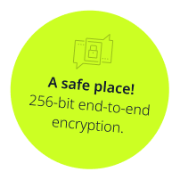 256bit end-to-end encryption
